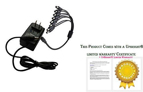 UpBright NEW 8 Way Splitter Connector 8-in-1 12V AC / DC Adapter For Lorex ACC-U81 ACCU81 Q-SEE SWANN CCTV Security Camera 8-to-1 Split 12VDC 2.0A 12.0V 2A - 2.5A Power Supply Cord Cable Charger PSU