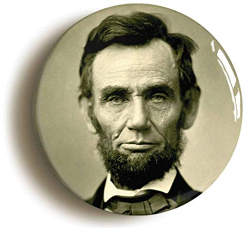 Abraham Lincoln Button Pin (Size is 1inch Diameter) Republican President Civil War Gettysburg ()
