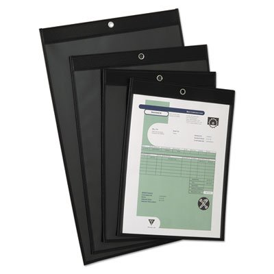 Shop Ticket Holders, Clear Front/Leatherette Back, 9 x 12, 25/Box