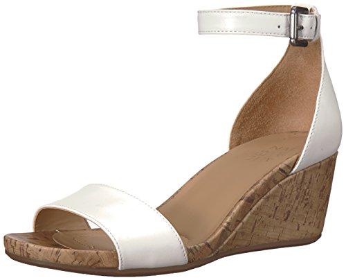 (Naturalizer Women's CAMI Wedge Sandal, White, 8.5 W US)