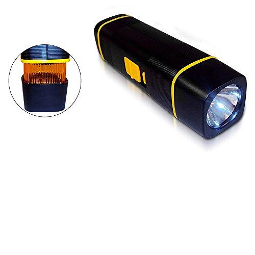 Emergency Flashlight With Magnetic Mount, Pulse & Flashing Amber Lens.