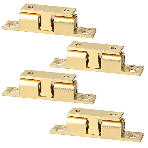 Alise CA250-4P Solid Brass Cabinet Door Closet Ball Tension Catch Latch,2.7-Inch x 0.47-Inch4 Pcs ()