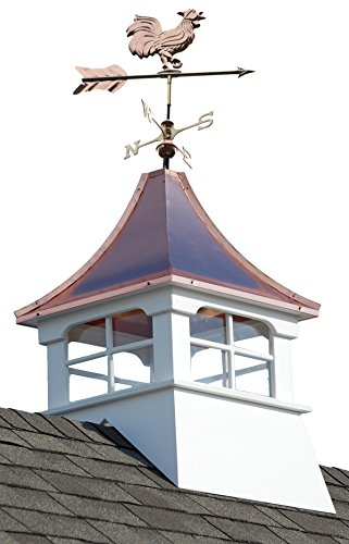 Accentua Charleston Cupola with Rooster Weathervane, 24 in. Square, 55 in. High by Accentua