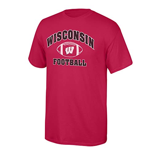 Elite Fan Shop NCAA Men's Wisconsin Badgers Team Color Football T-shirt Wisconsin Badgers Cardinal Small