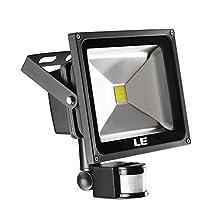 LE 30W Motion Sensor Light, LED Flood Lights, 75W HPS Equivalent, Daylight White, Waterproof LED Security Light, High Output 2100lm, PIR Floodlight