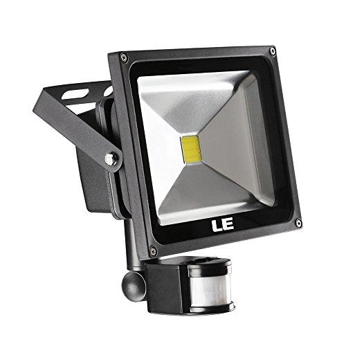 Led Flood Light With Night Sensor: LE 30W Motion Sensor LED Flood Light, Waterproof, Daylight