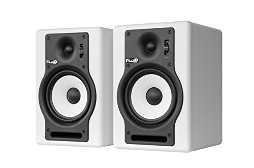 Fluid Audio F5 (Pair) - 5' 2-way Studio Reference Monitors, White