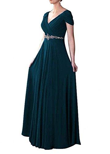 Braut Fuer Blau Brautmutterkleider Dunkel Chiffon Kleider Hochzeits Elegant Sommer Abendkleider La Linie mia Mutterkleider A Lang Fwqp0xxA5