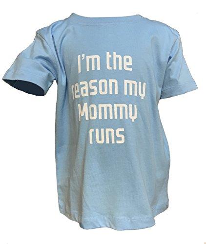 (Running Princess/Organic by Rabbit Skins I'm The Reason My Mommy Runs - Toddler T-Shirt & Onesie (3T, Light Green))