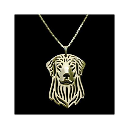 Rose Gold Golden Retriever Necklace