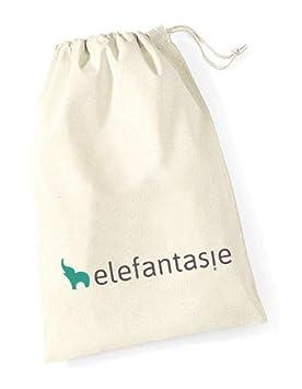 Elefantasie Stofftier Teddy B/är Geschenk mit Namen und Geburtsdatum personalisiert 30cm