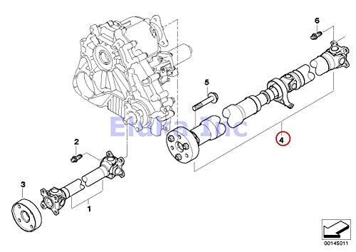 BMW Genuine Rear Driveshaft (Rebuilt) L=1277MM X3 2.5i X3 3.0i ()