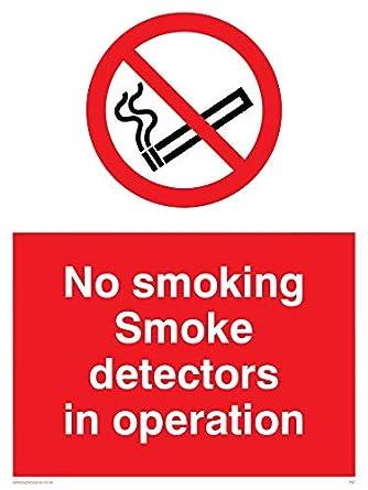 Viking signos ps7-a3p-3 mno fumar detectores de humo en funcionamiento signo, plástico, 3 mm rígida, 400 mm H x 300 mm W: Amazon.es: Amazon.es