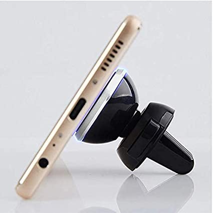 Silver Universal Smartphone Car Mount with 360/° Rotation for One Hand Operation MEIRUI EGO Magnetic Air Vent Phone Holder
