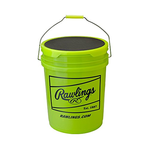 Rawlings RFPBUCK6G6PK 6 gallon Empty Ball Bucket-6 Pack (Fastpitch Backpack)