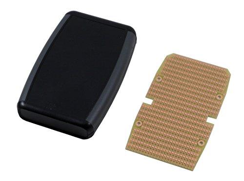 BusBoard Prototype Systems KIT-1553B Box+PCB, Black Handheld Soft Sided Plastic Box, with PR1553B PCB, Box = 4.6 x 3.1 x 1.0 in