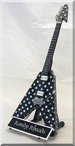Randy Rhodes miniatura guitarra Guns N Roses W/Nombre de etiqueta ...