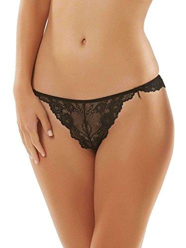Jezebel Women's Caress Too Thong, Black, X-Large