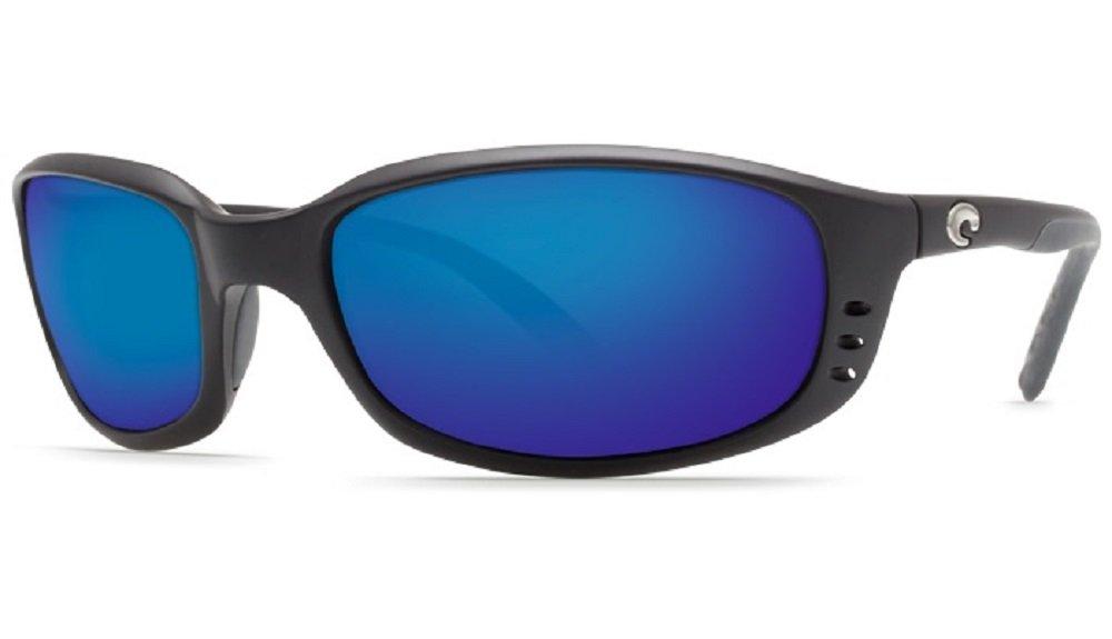 Costa Del Mar Brine 580P Black/Blue Mirror Polarized Sunglasses by Costa Del Mar