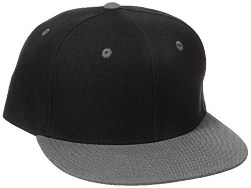 DECKY 2Tone Flat Bill Snapback Cap, Black