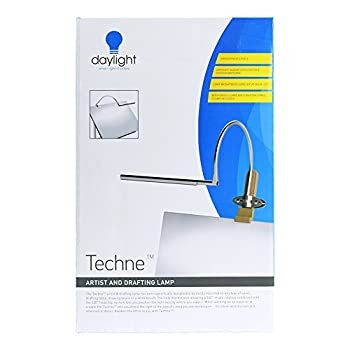 Image of Daylight Techne LED Artist & Drafting Lamp, 12X20X7, Brushed Steel Home Improvements