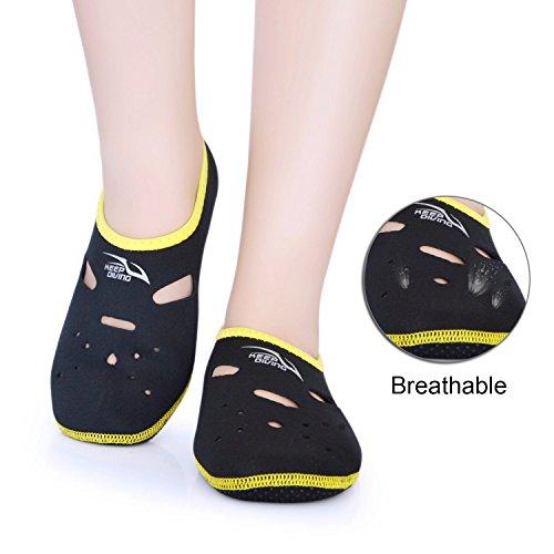 9461bde8e55f Micnaron Water Socks Freely 3mm Low cut Snorkeling Water Shoes Neoprene  Socks Fin Socks Secuba Diving Socks Water Skin Shoes Surfing Socks Flippers  ...