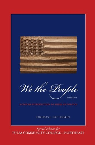 we the people th edition patterson com  we the people 10th edition patterson 9780077649319 com books
