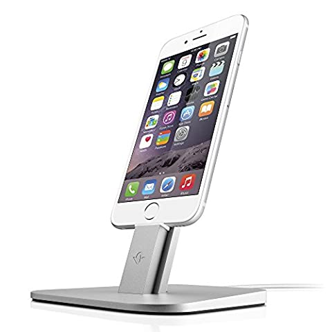 Twelve South HiRise for iPhone/iPad, Silver | Adjustable charging stand, requires Apple Lightning cable (not (12 South Iphone 6 Plus Dock)