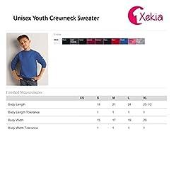 Xekia Emoji Face with Stuck Crewneck For Girls - Boys Youth Kids Medium Black