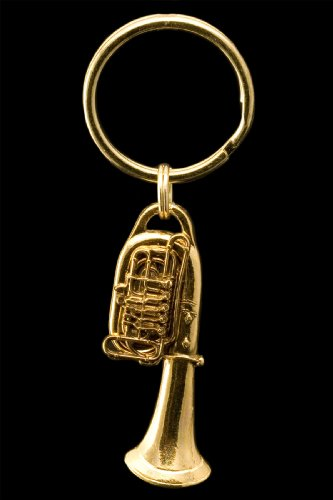Tuba Key Chain - 24k Gold Plated