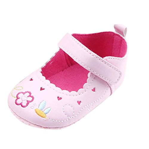 RGANT Mary Jane Princess Party Dress Crib Shoes,Baby Girls Shoes Soft Sole Prewalker