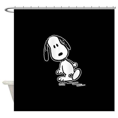 CafePress Peanuts Snoopy Decorative Fabric Shower Curtain (69