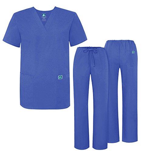 Adar Universal Medical Scrubs Set Medical Uniforms - Unisex Fit - 701 - CBL ()