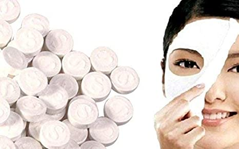 Buy Zebex Cotton Facial Mask Sheets With Cotton Under Eye