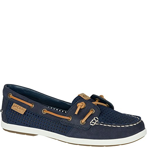 Sperry Top-Sider Women's Coil IVY Perf Boat Shoe, Navy, 9 M US