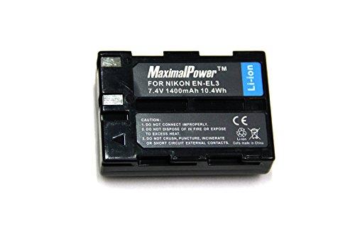 Maximal Power DB NIK EN-EL3 Replacement Battery for Nikon Digital Camera/Camcorder (Black)