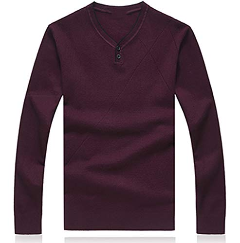Ting room 5XL 6XL 7XL 8XL Sweater Men Clothes V-Neck Pullover Men Christmas Sweater,Wine red,6XL