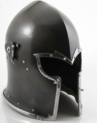 THORINSTRUMENTS (with device) Thor Visored Barbuta Helmet Armour