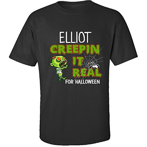 Elliot Creepin It Real Funny Halloween Costume Gift - Adult Shirt 4xl Black