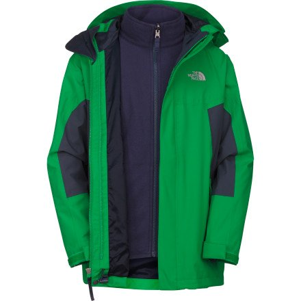The North Face nimbos tratus Chaqueta Joven Chaqueta Doble Rueda Green M o XL (M