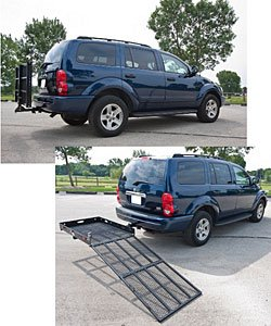 Silver Spring SC400-V2 Steel Folding Scooter and Wheelchair Carrier with Ramp (0.5' Wobble)