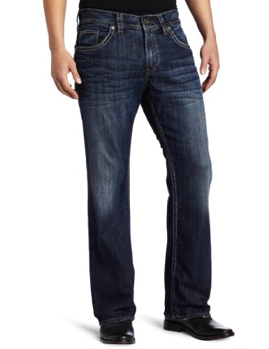 Silver Jeans Co. Men's Zac Relaxed Fit straight leg jeans Jean, Dark Indigo, 36Wx 30L