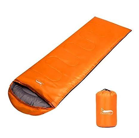 TTYY Saco de Dormir Momia Otoño e invierno espesado Conservación de calor interior Súper ligero portátil acampar al aire libre , orange: Amazon.es: Deportes ...
