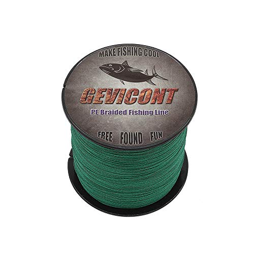 GEVICONT Braided Lines Super Power Fishing Jobs PE Material 4 Strand 328yds to 1094 yds 10lb to 100lb Multiple Colors Available for Freshwater Saltwater ()