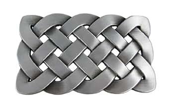 Pewter Finish Celtic Knot Belt Buckle Endless
