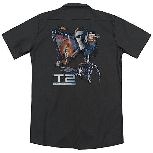 Terminator 2 Battle (Back Print) Button Shirt - 2XL