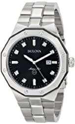 "Bulova Men's 98D103 ""Marine Star"" Diamond Accented Stainless Steel Watch"