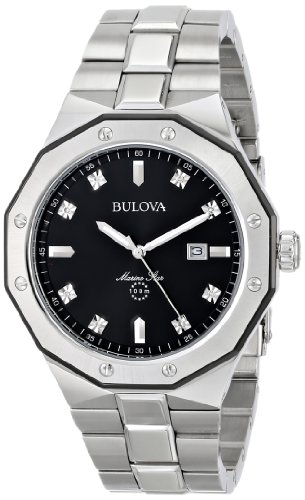 "Bulova Men's 98D103 ""Marine Star"" Diamond Accented Stainless"