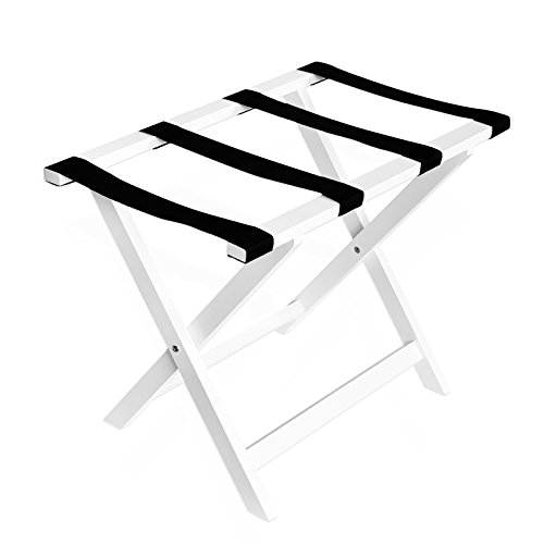 Luggage Rack Luggage Stand for Suitcase for Home Bedroom Guestroom, White ()