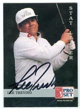 Lee Trevino autographed golf trading card 1992 Pro Set PGA Tour #271